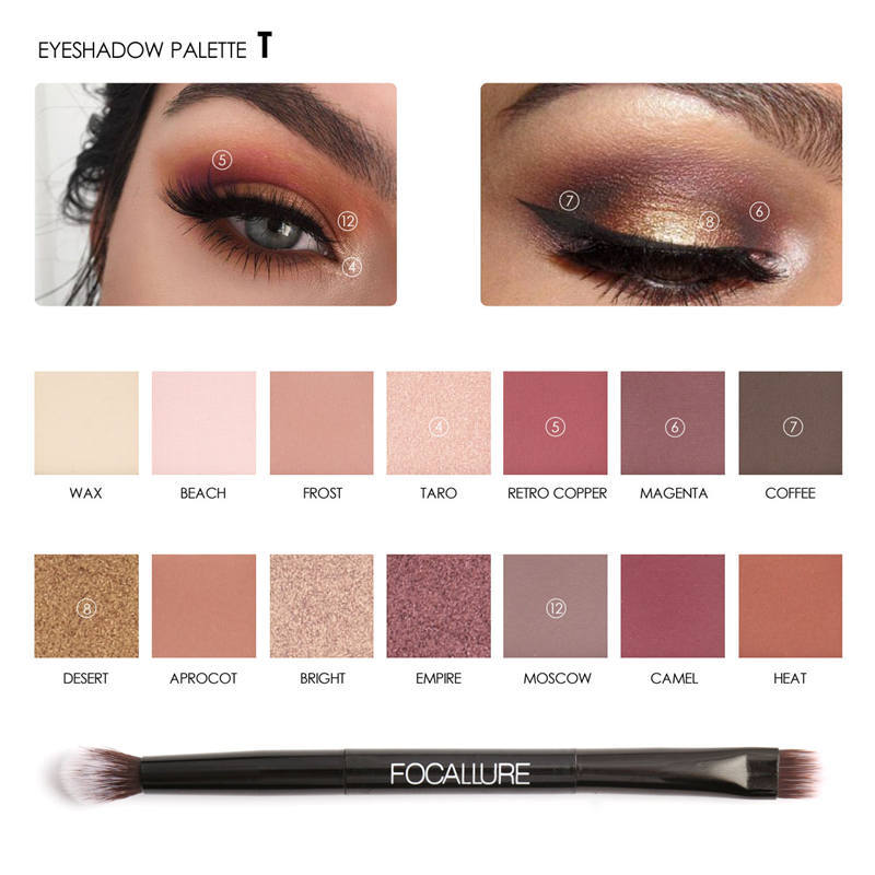 FOCALLURE 14 Colors Eyeshadow Palette Matte Eye Shadow