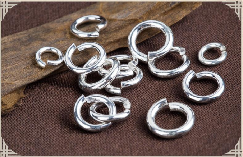 925 5pcs Necklace Bracelet Spacer Sterling Silver Beads DIY Jewelry Accessories