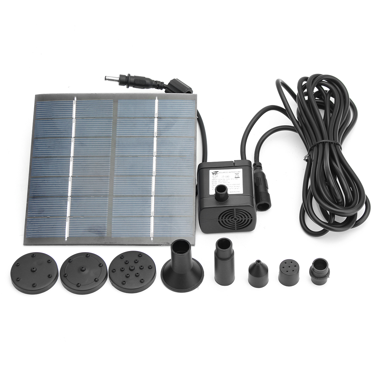 JT-180 1.4W 7V Solar Panel Power Fountain Pump Outdoor Garden Pond Pool Submersible Water Pump Kit