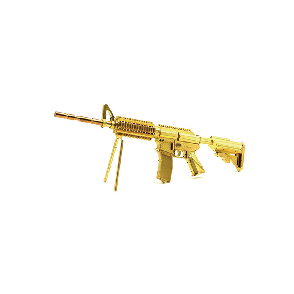 Aipin DIY 3D Metal Puzzle Golden Carbine Weapon Stainle