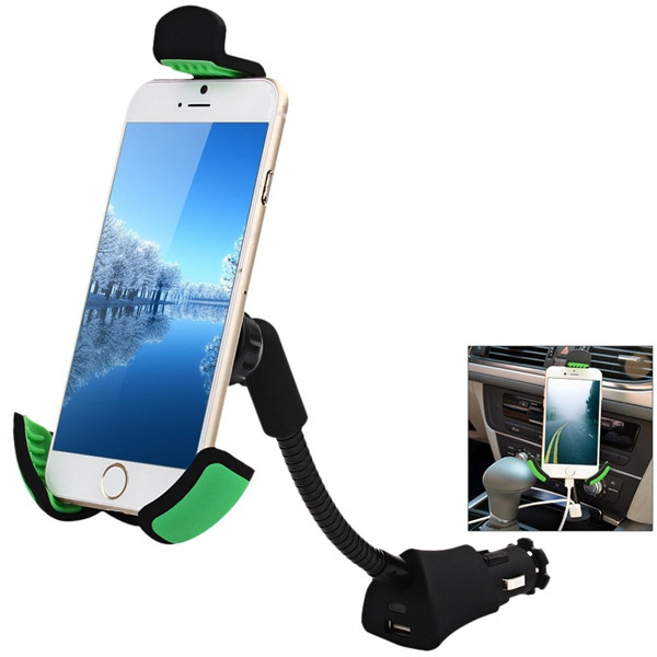 Car Smartphone Holder USB Battery Charger
