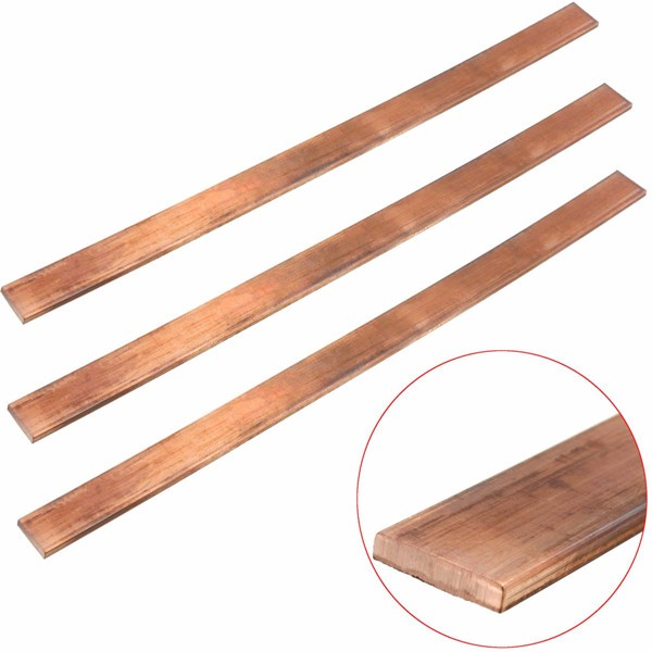 3mm x 15mm x 250mm Copper T2 Cu Metal Flat Bar