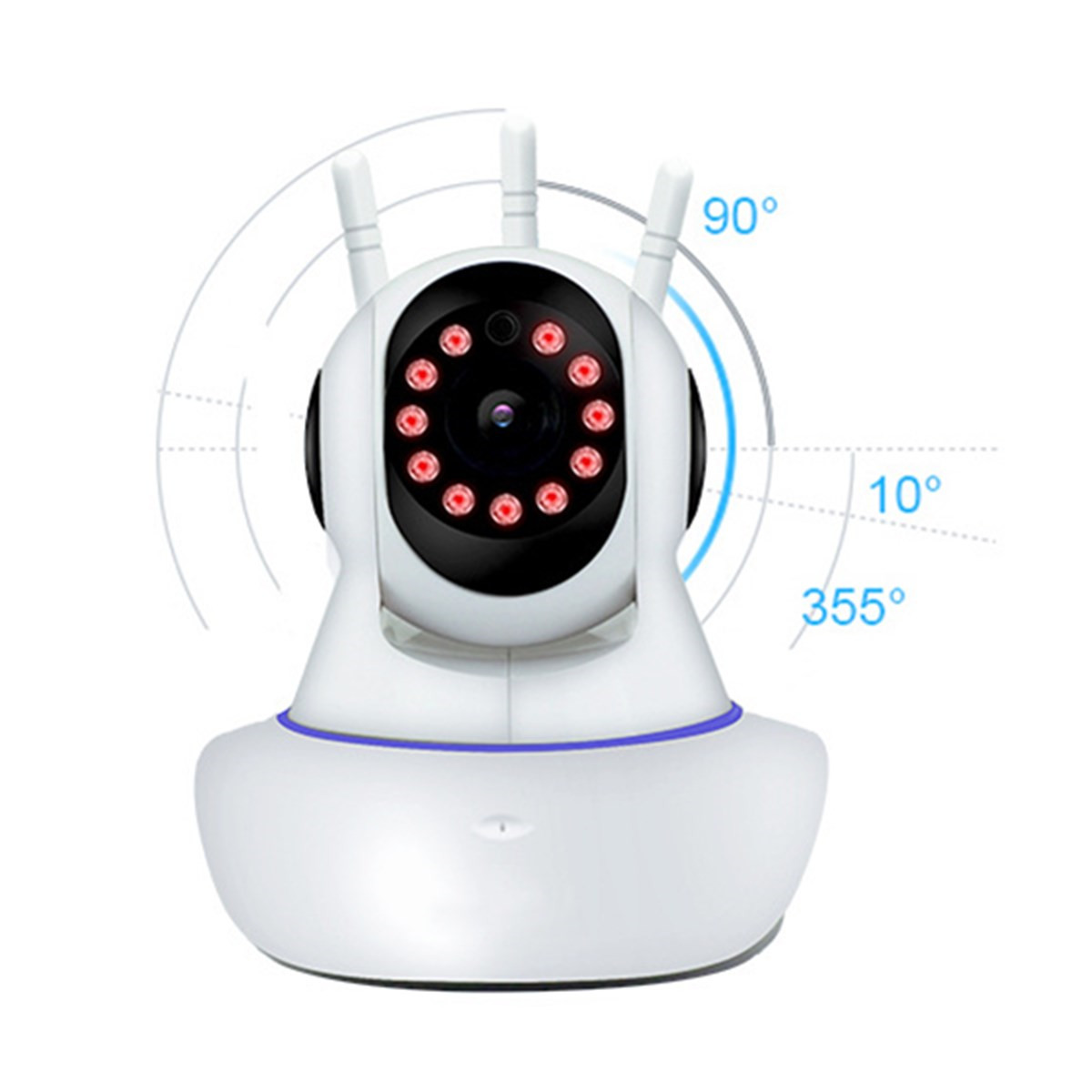 1080P 360° Panoramic Wireless Wifi Security IP Camera Monitor Night Vision CCTV