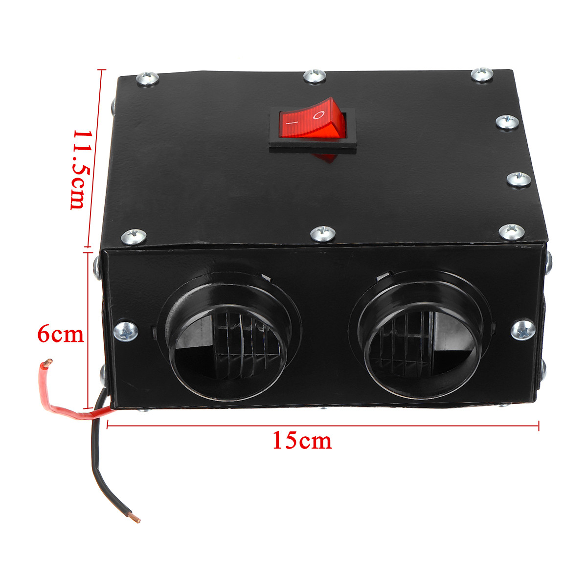 12V 600W Dual Hole Car Heating Warmer Thermostat Fan Window Defroster Demister