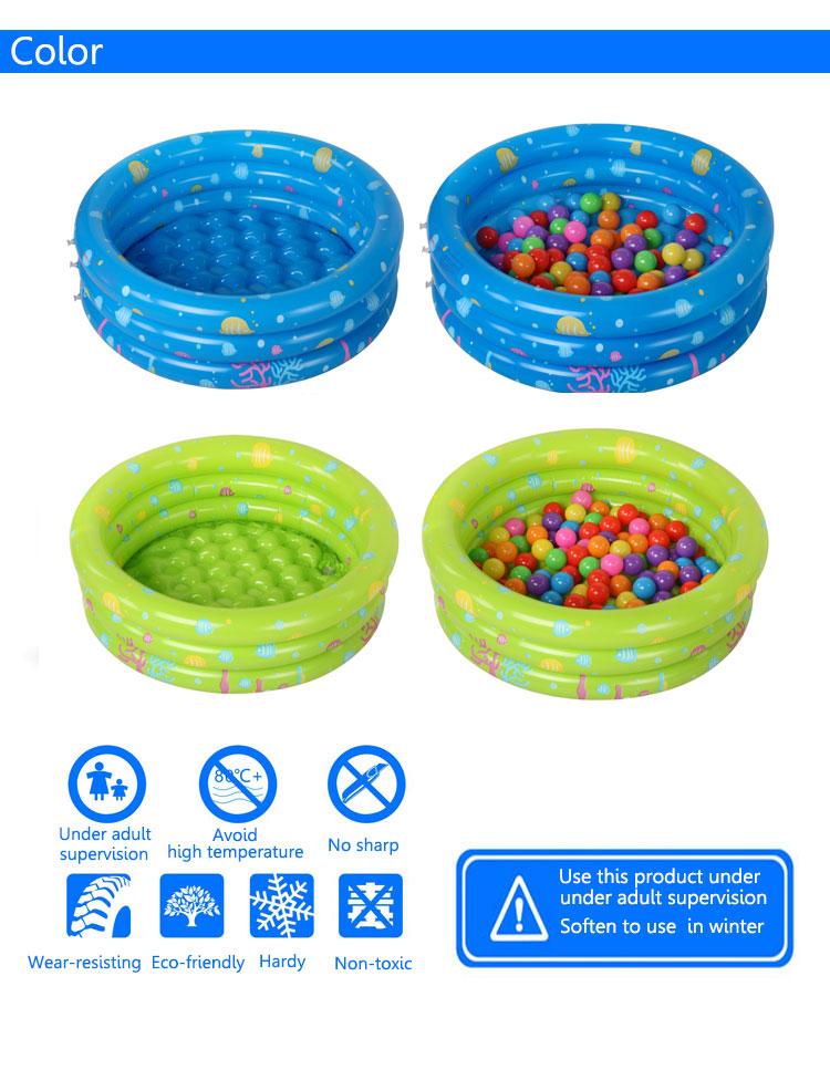 Cartoon Inflatable Swimming Pool Safe PVC Ocean Balls Pool Baby Kids Bath Basin