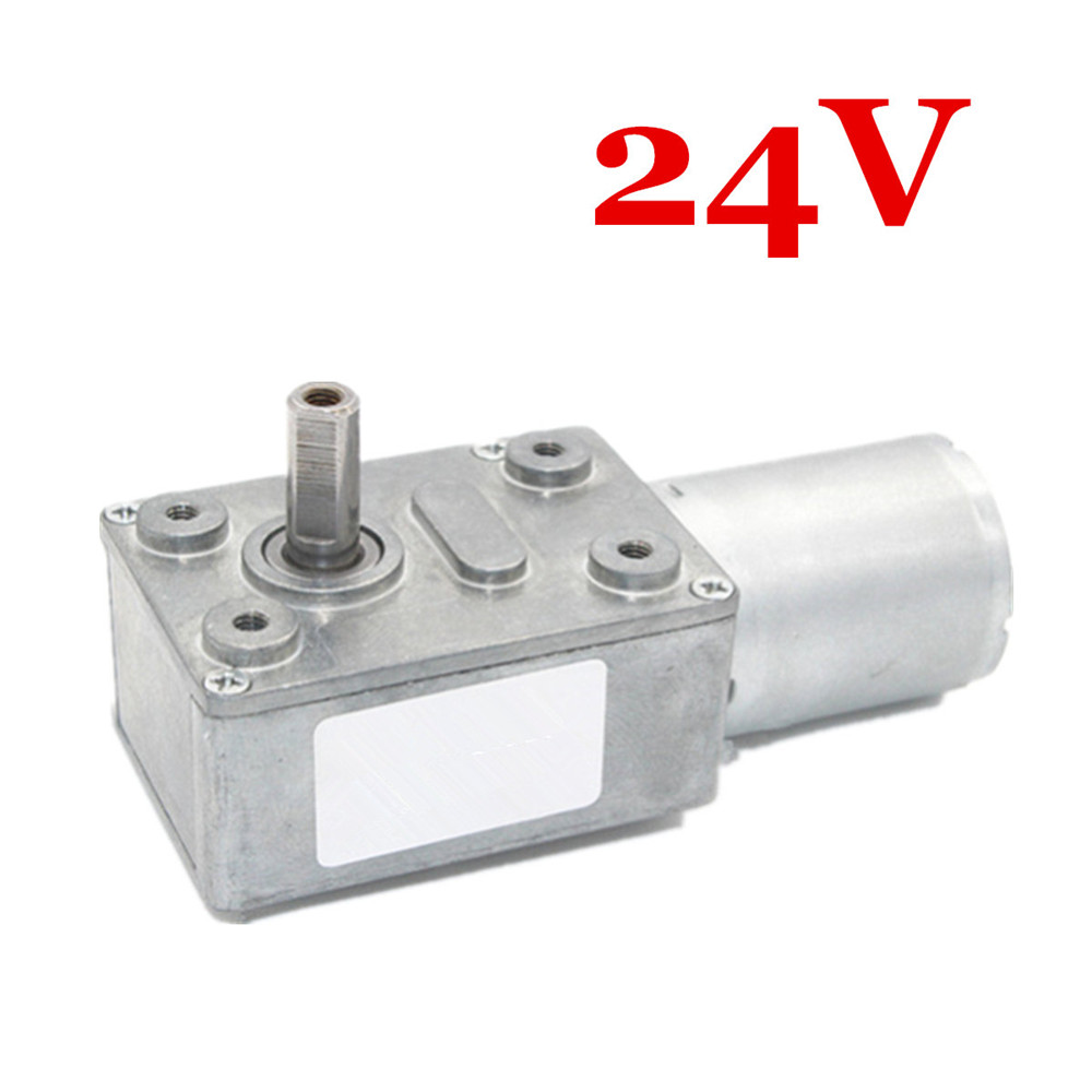 12V 24V 150RPM Reversible Power Torque Turbo Worm Electric Gear Motor DC Motor