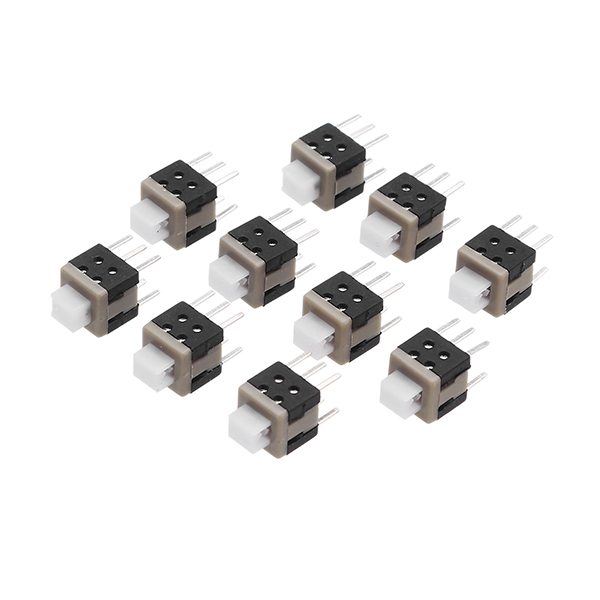 20Pcs Tact Touch Push Button Switch Self Locking Tactile Surface Mount SMD Switch 6-Pin
