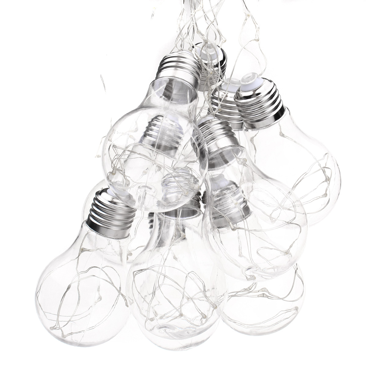 4M 10LEDs Bulb Shaped Indoor Outdoor Fairy String Light for Christmas Party AC100V-240V