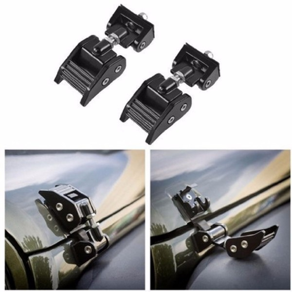 2 pcs Engine Hood Latch for Jeep Wrangler JK (2DR/4DR) 2007-2016