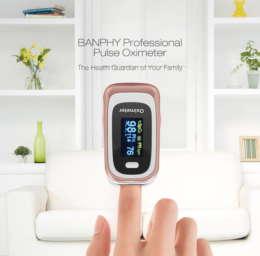Bangphy Professional OLED Pulse Oximeter Blood SPO2 Heart Rate Sleep PI ODI Monitor Device Hospital Household