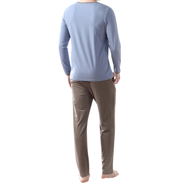 Mens Comfortable Casual Home Sleeping Pajamas Suit