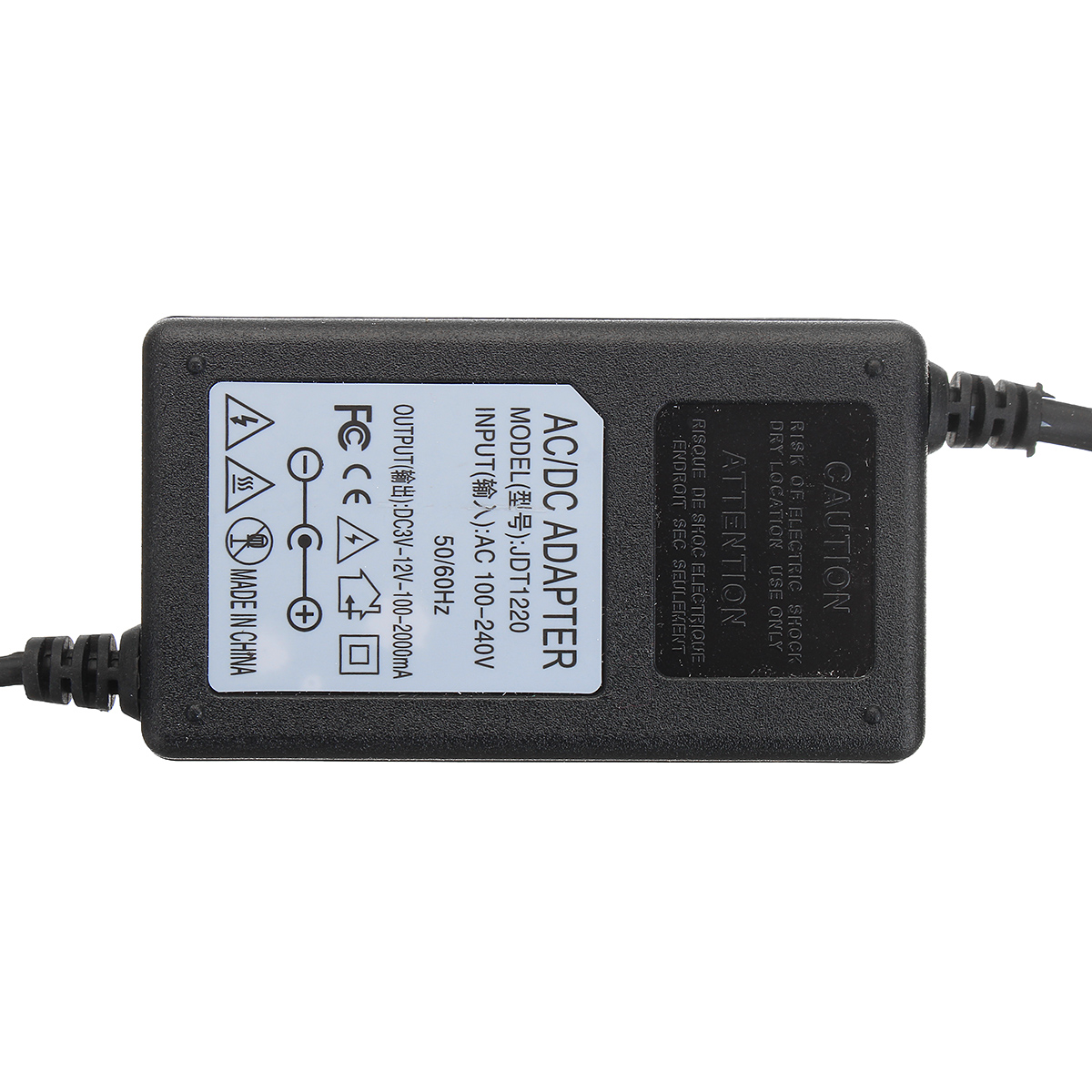 DC 3-12V 2A 24W Adjustable AC/DC Adapter Power Supply Switching Motor Speed Controller