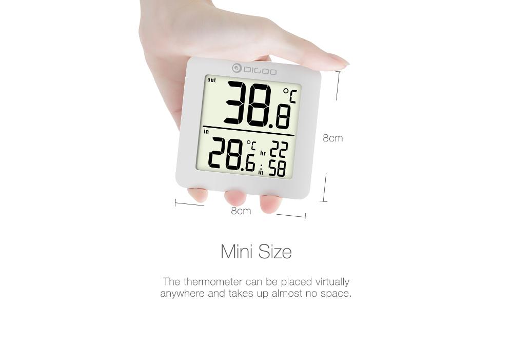 DIGOO DG-TH01 Mini LCD Digital Thermometer Multifunction Indoor Outdoor Probe Temperature Sensor Monitor