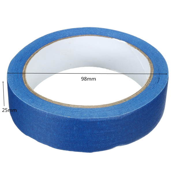 25m Blue Masking Tape High Temperature Resistance Adhesive Tapes 10/25/50mm