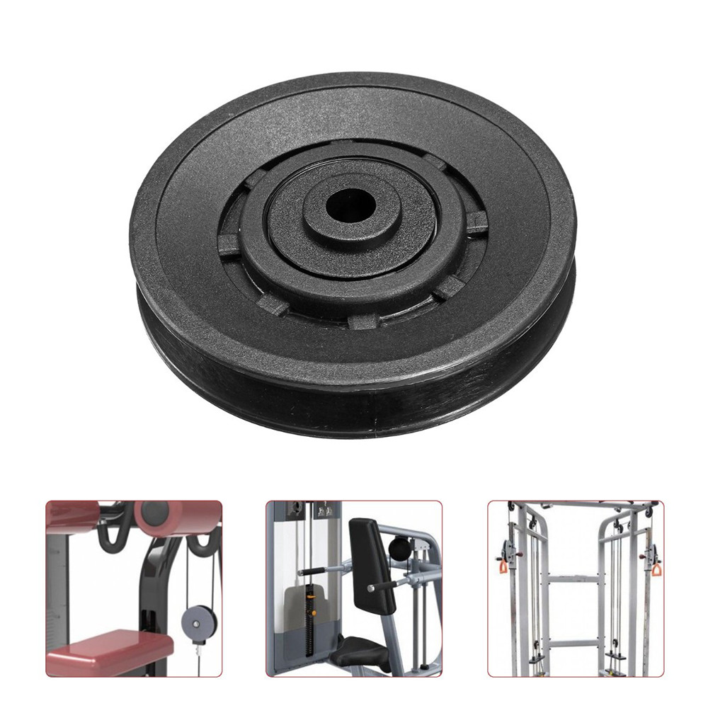 90mm Universal Nylon Bearing Pulley Wheels Cable For Gym Fitness Equipment Parts