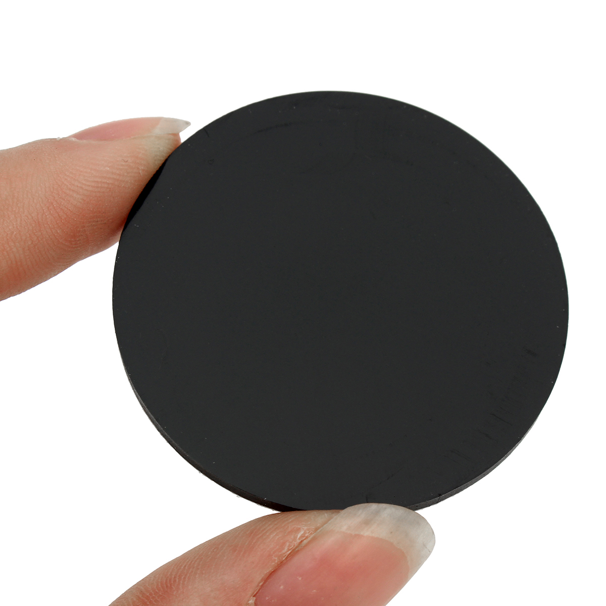 20Pcs 40mm Round Black Silicone Oval Model Bases Support for Wargames Table Games Warhammer 40K