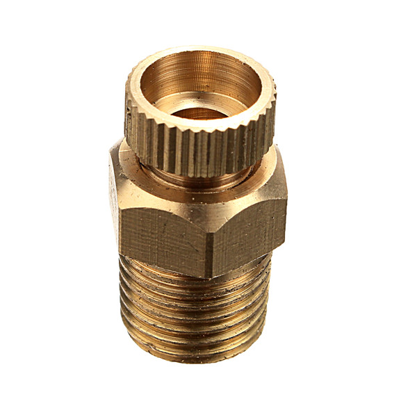 PT 1/2 3/8 1/4 Inch Brass Drain Valve Air Compressor Male Threaded Water Drain Valve