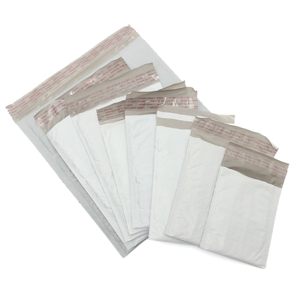 Padded Poly Bubble Mailers Shipping Plastic Self Seal Ring Envelopes Bags With 9 Sizes