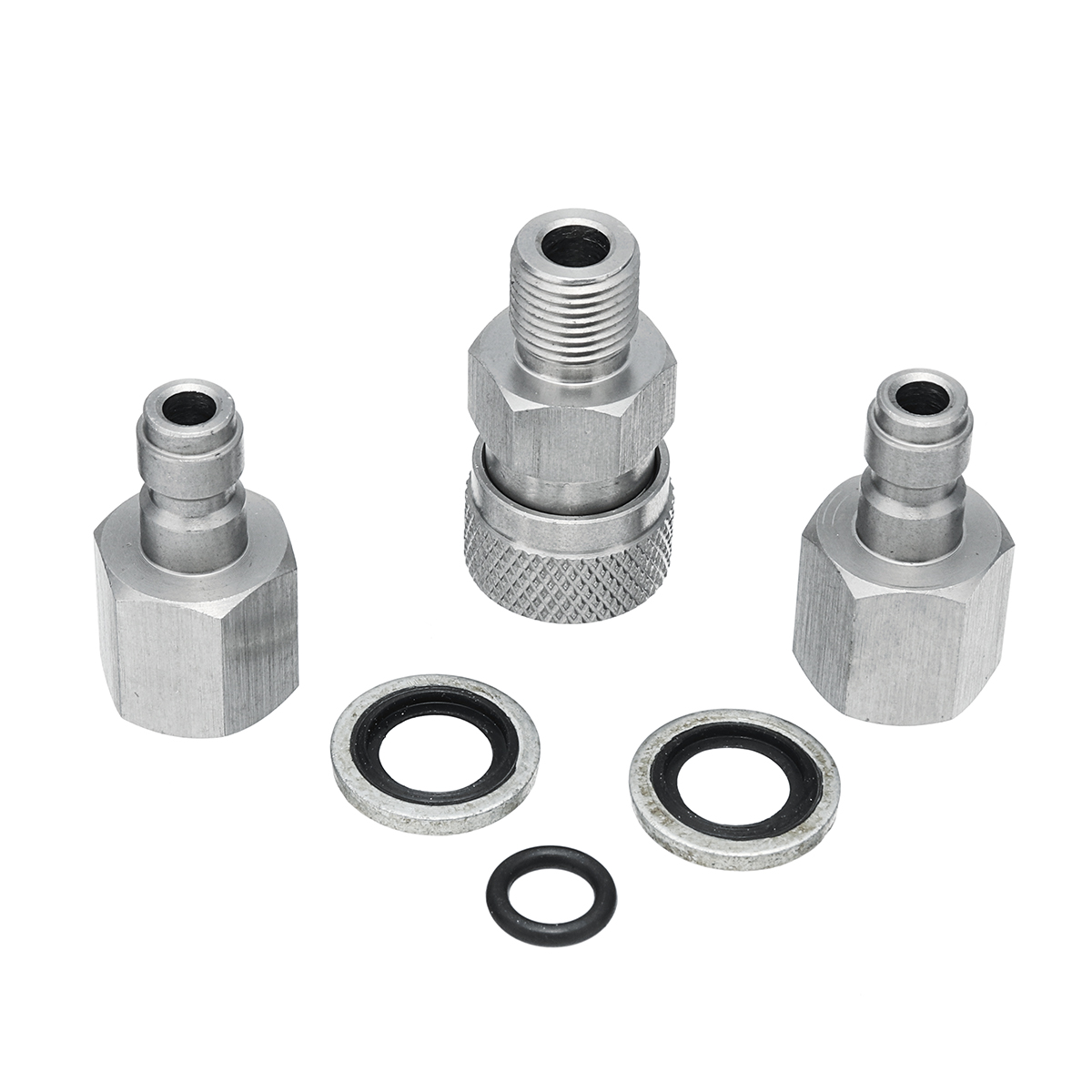 Stainless PCP Air Gun Filling Quick Connect Adapter 1/8 BSPP With Plugs Fitting Connector Coupler