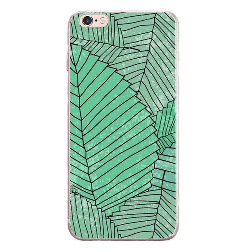 TPU Cacti Leaf Pineapple Pattern Shockproof Case For iPhone 7/8