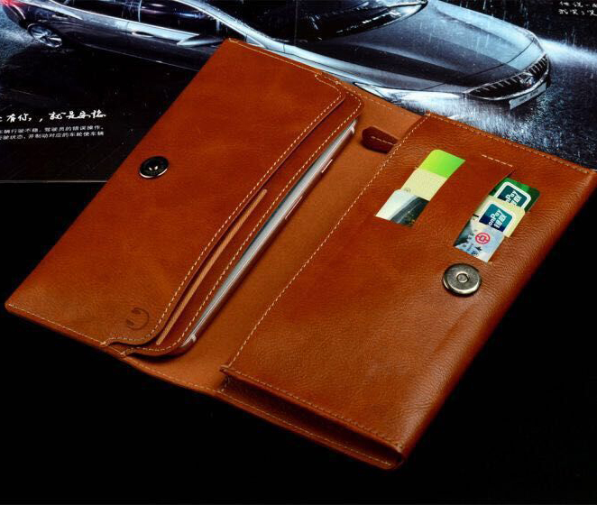 Mobile Wallet Clutch Bag Purse Zipper Wallet Case With Card Slots For iPhone 7/6/6S Plus Samsung