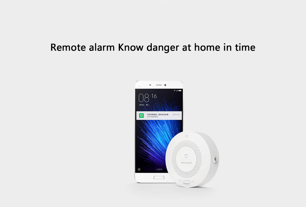 Xiaomi Mihome Honeywell Gas Alarm Remote Alert Air Exhaust Sensor