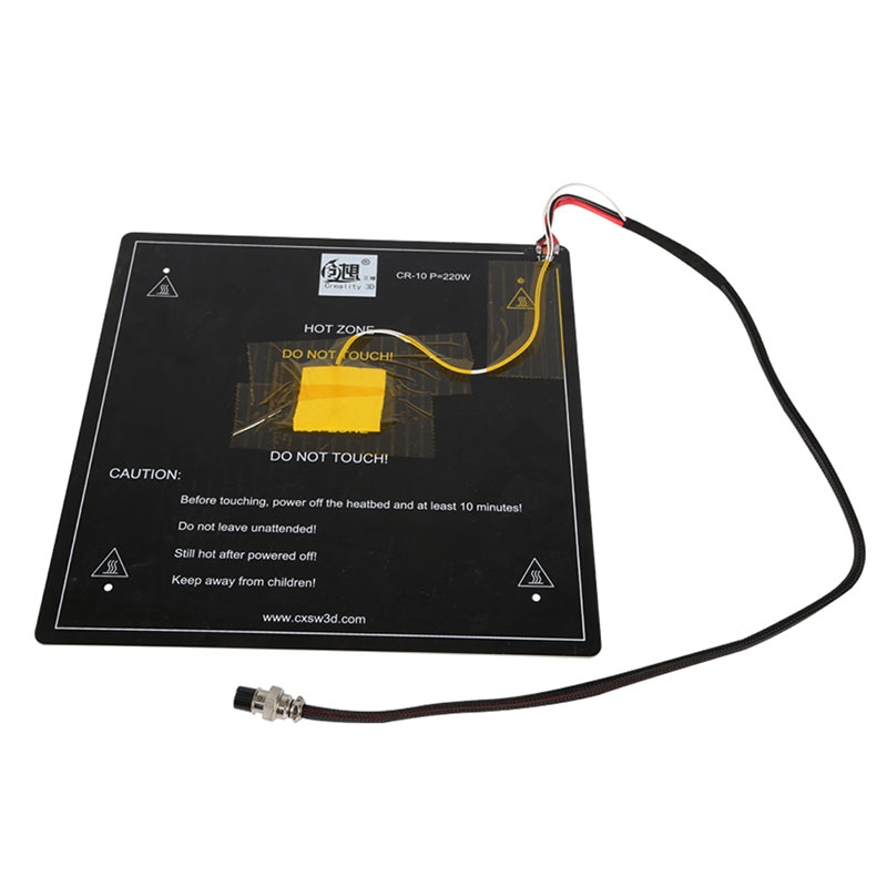 Creality 3D® Aluminum 12V MK3 300*300*3mm Heatbed Board With Cable Installed Well For 3D Printer