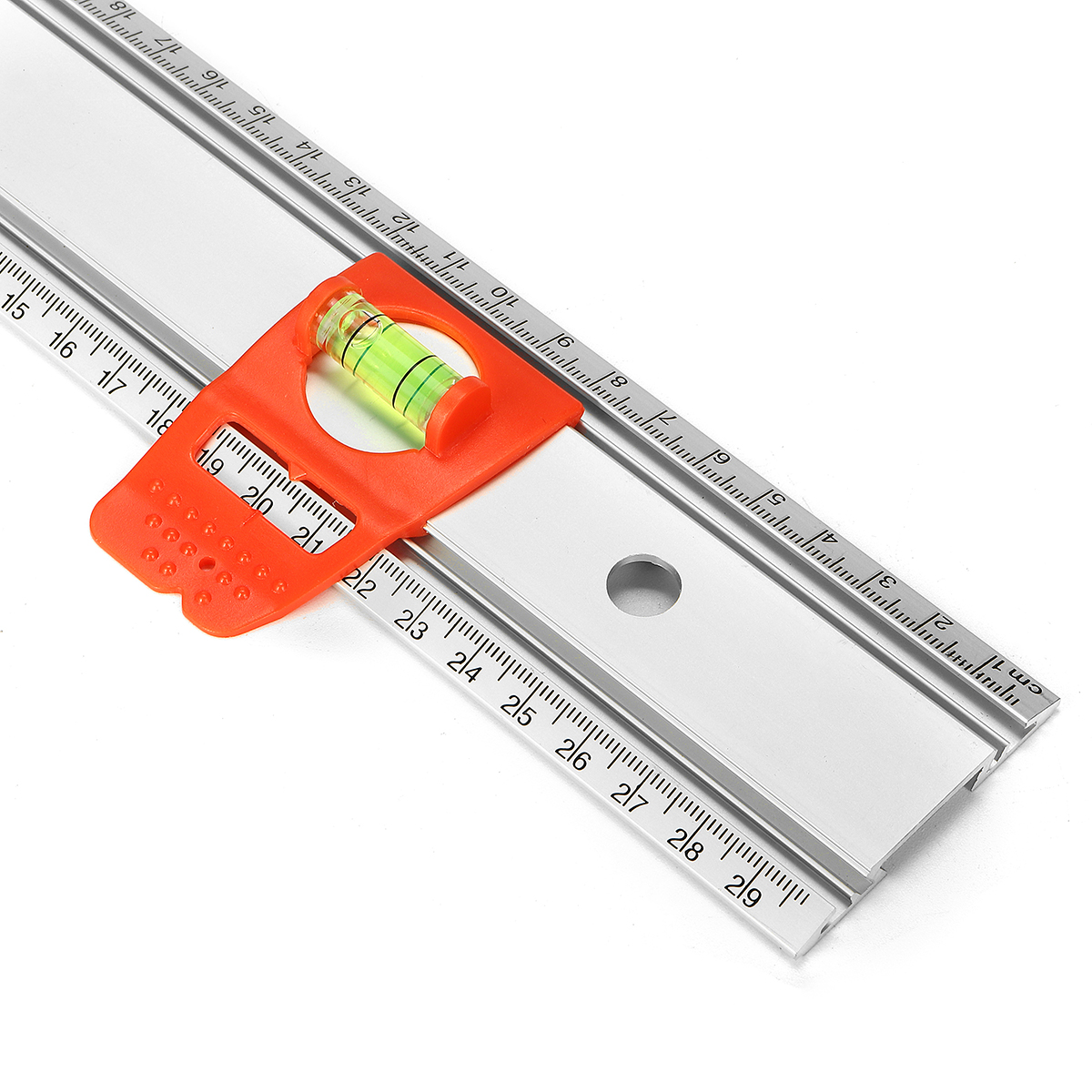 300mm Aluminum Alloy Laser Level Magnet Ruler Measuring Tool