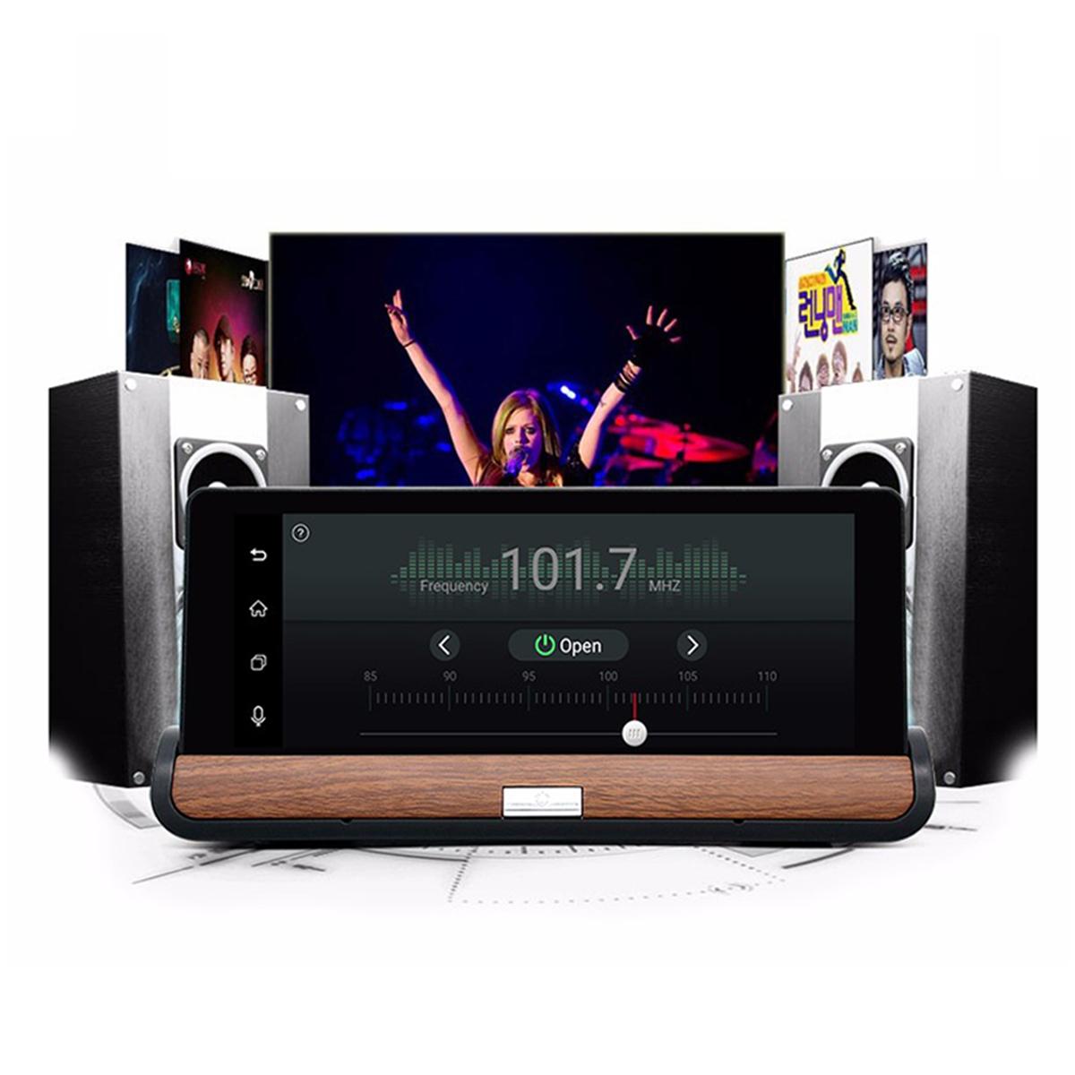 Car DVR Kit 7 Inch Car Display 2 Cameras GPS Navigation Android OS 1080p Recording