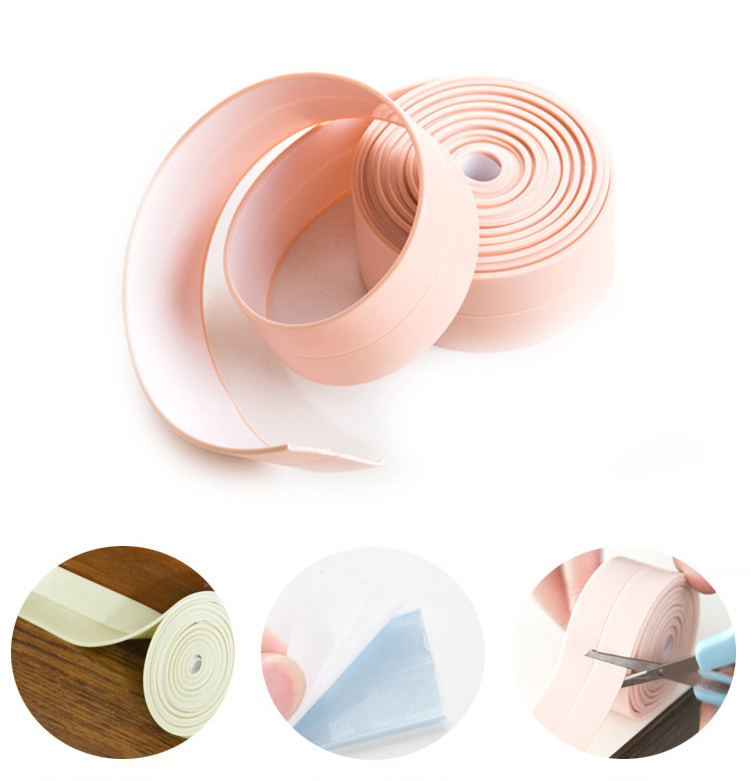Honana DX-121 255cm PVC Gap Anti-fouling Waterproof Sticker Seal Ring Strip Dust-proof Kitchen Toilet Wall Tape