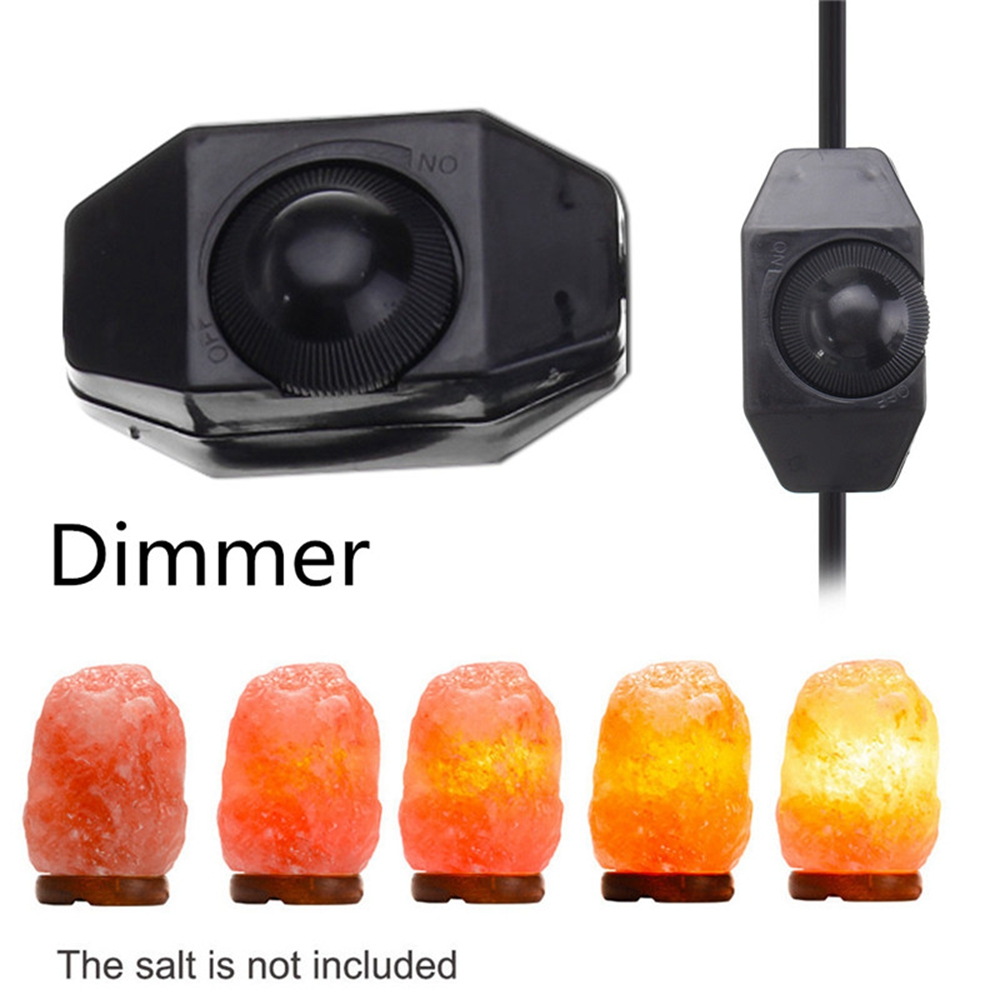 1.5M E12 Bulb Adapter US Plug with Dimmer Cable Cord Switch for Himalayan Salt Lamp