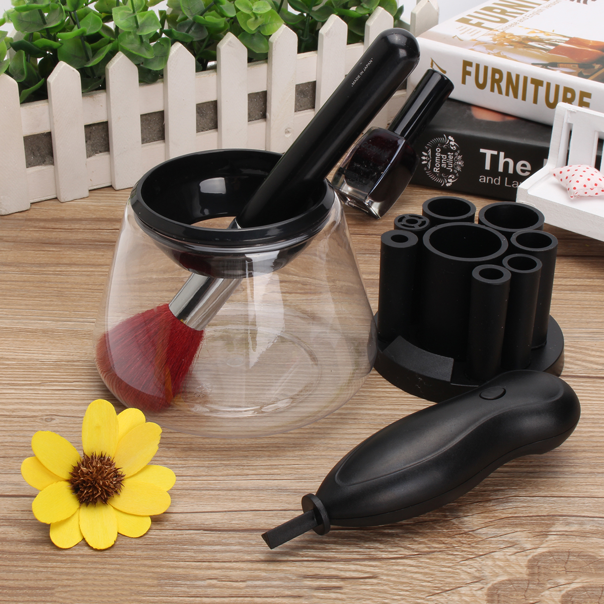 Electric Makeup Brush Cleaner Deep Cleansing Fast Dry Comestics Tool Automatic Washing Machine