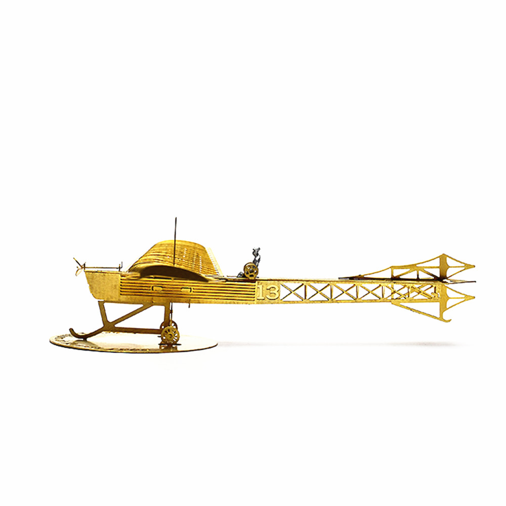 1/160 Scale 3D DIY Brass Etched Model Kit Antoinette IV 1909 RC Airplane Metal Puzzle Toy Adult