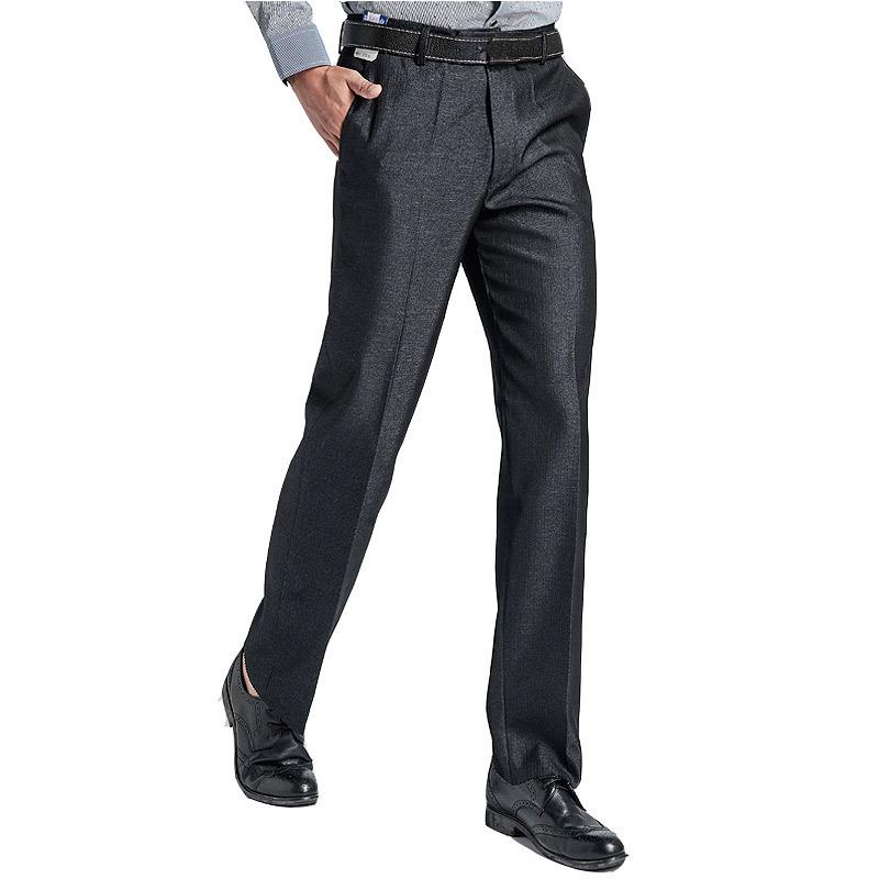 Pure Color Thin Professional Straight Dress Suit Pants