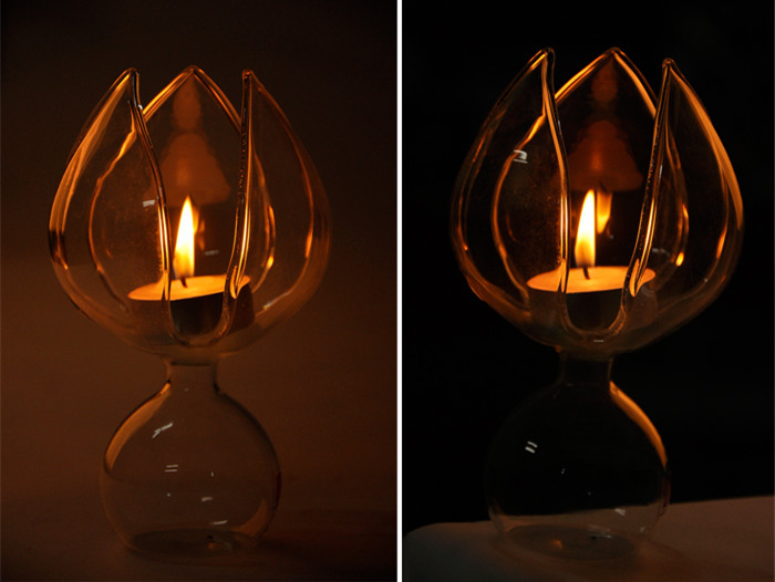 Lotos Flower Glass Candle Holder Candelabrum Candle Stick Candle Light Dinner Home Decor Gift