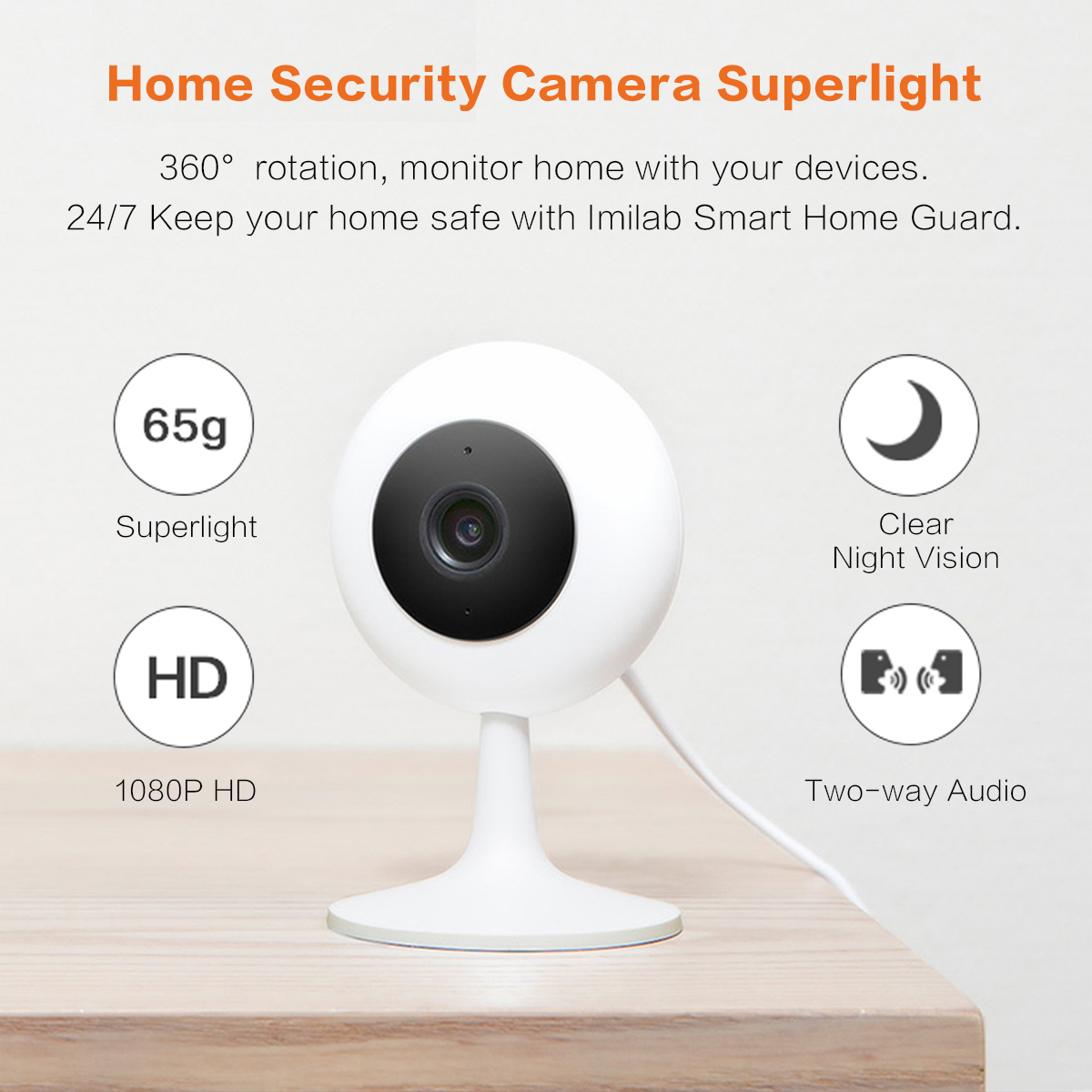 IP Camera WIFI HD 1080P 120 Degree