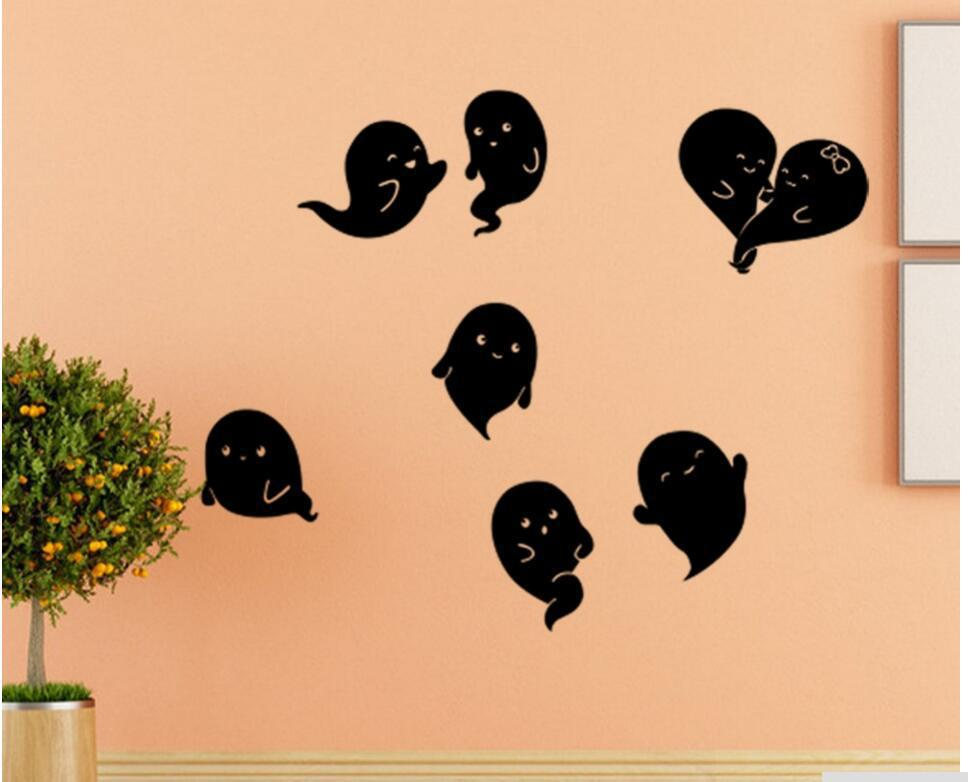 KST-8 Halloween PVC Wall Stickers Ghost Living Room Bedroom Decoration Wall Stickers