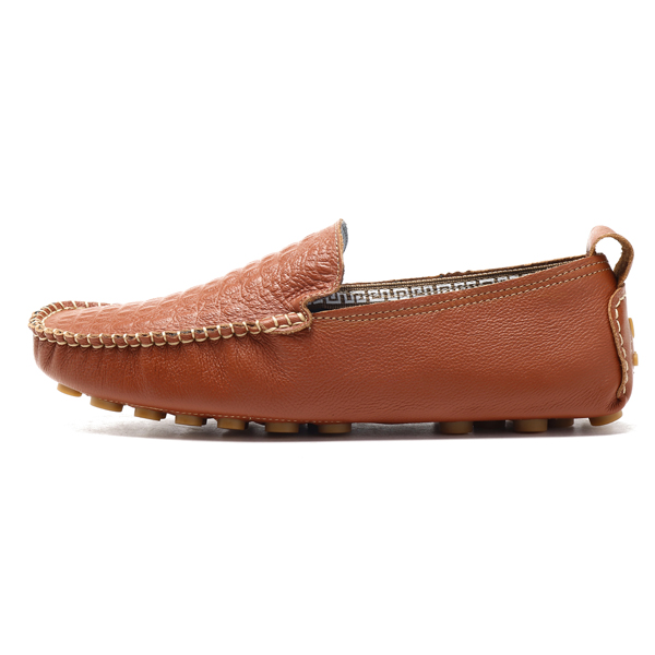 Men Sofrt LeatherMoc Toe Driving Flat