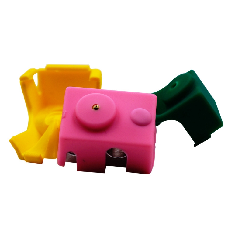 Green/Pink/Yellow/White Silicone Case For V6 PT100 Aluminum Block 3D Printer Part Hot End