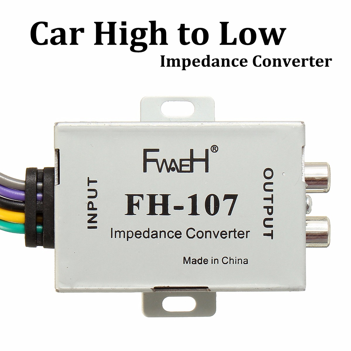 Impedance Converter Adapter Adjustable Speaker to RCA Line 12V Car High to Low