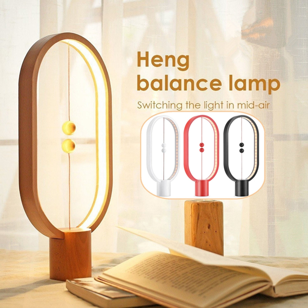 48 LED Heng Balance Lamp Magnetic Light Night Light Bulb Home Indoor Decoration