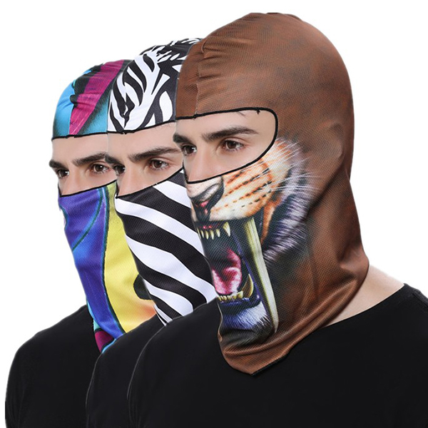 Men 3D Printing Warm Balaclava Bicycle Bike Hats
