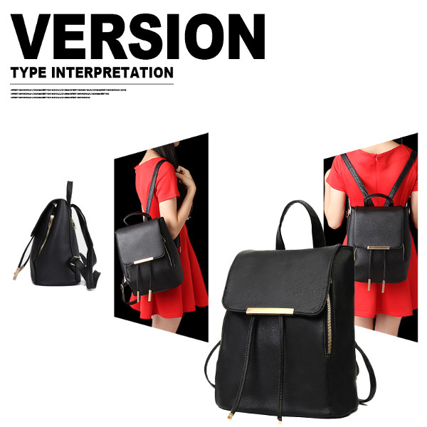 Women PU Leather Backpack Girls Cute School Bags Students Book Bags