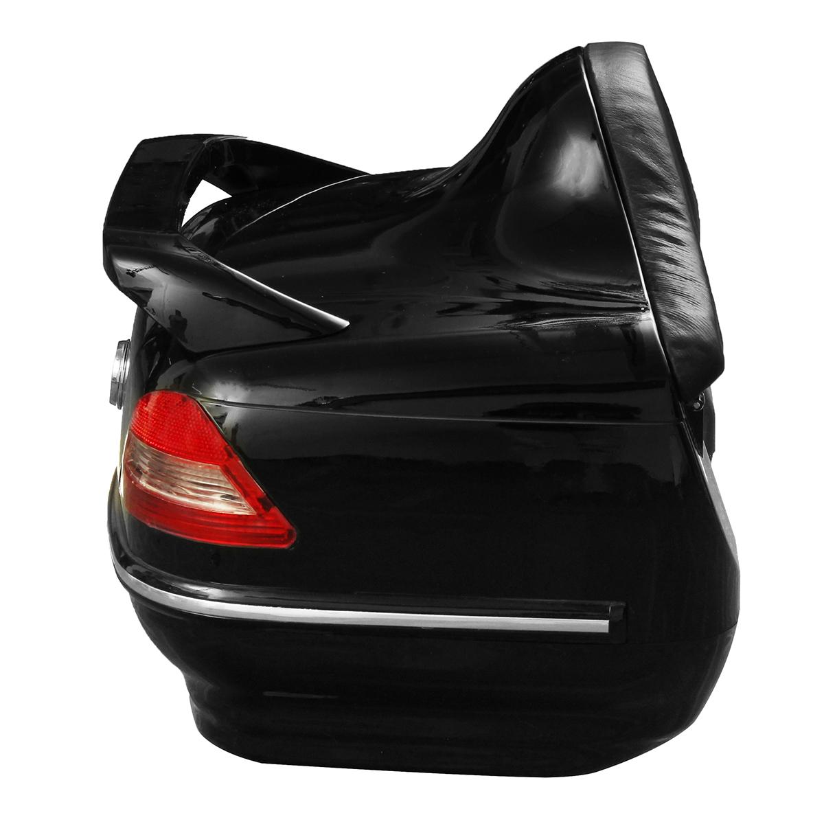 Motorcycle Trunk Tail Box with Taillight Black For Harley/Honda/Yamaha/Suzuki Vulcan Cruiser