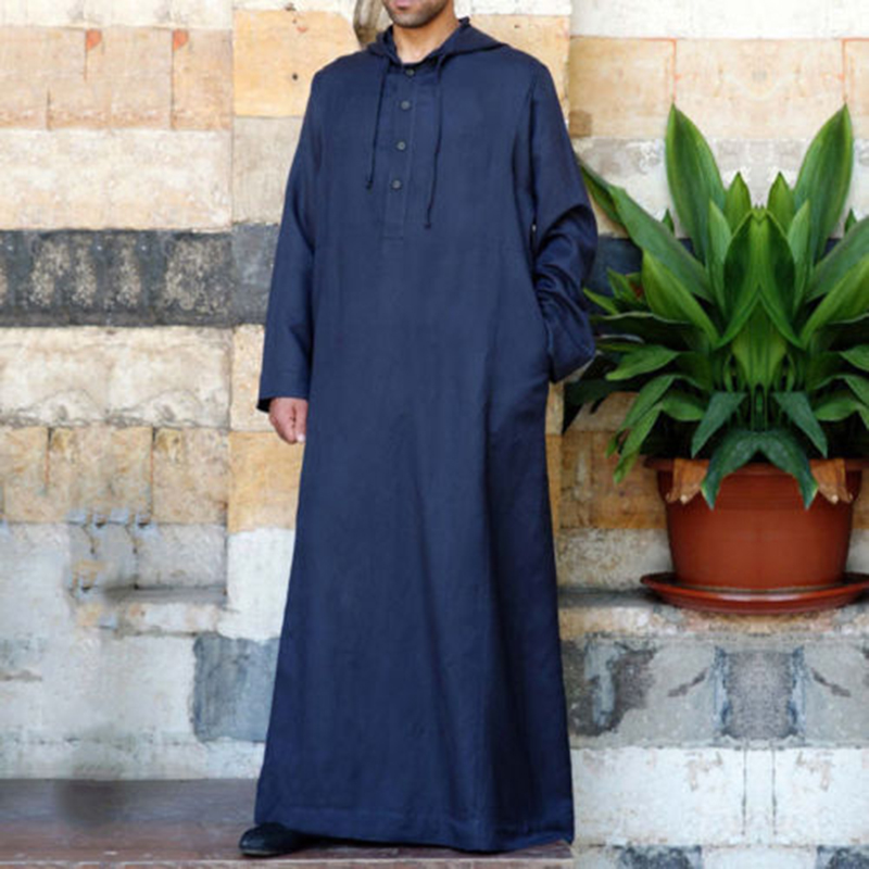 Men Vintage Long Tunic Style Shirts Loose Cotton Kaftan Tops