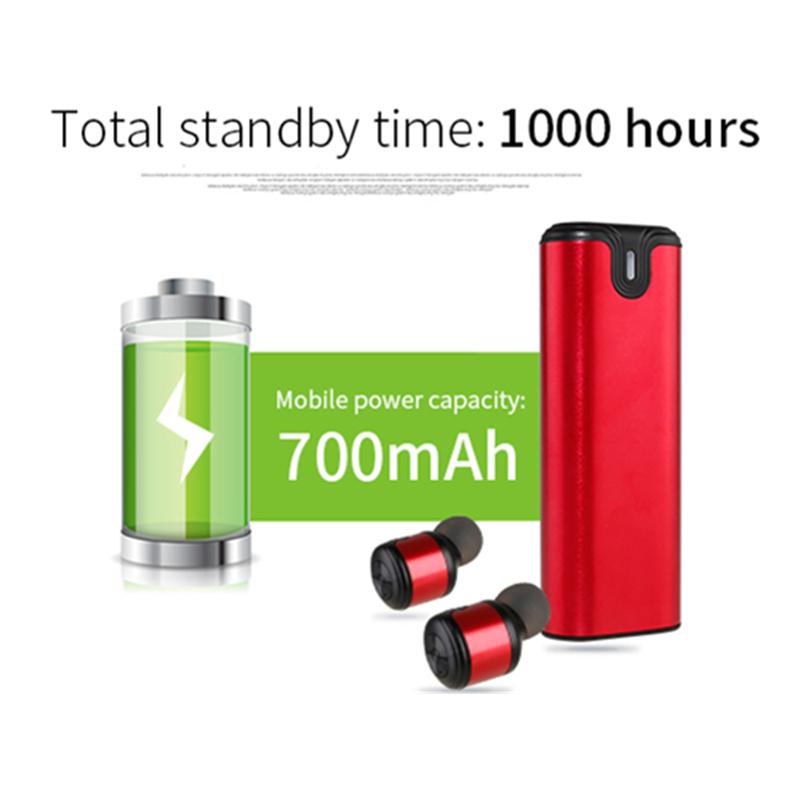 [True Wireless] Bakeey TWS Dual bluetooth Earphones Double Headphones with Charging Box