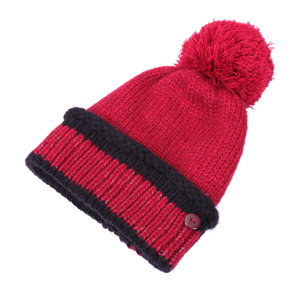 Women Warm Knitted Beanies Hat Collar Scarf Set