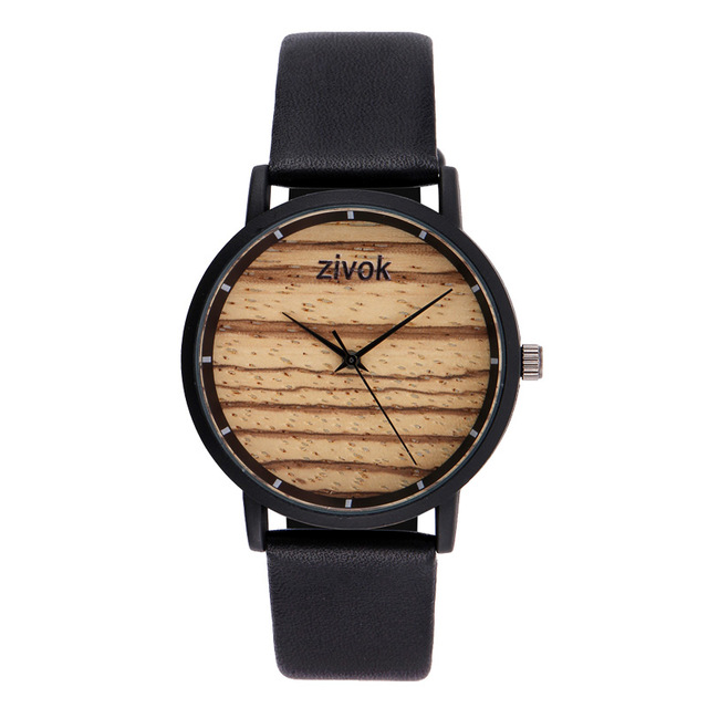 ZIVOK 8006 Wood Decoration Ladies Wrist Watches Fashion