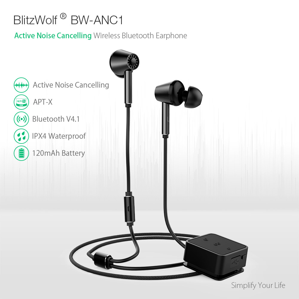 Blitzwolf Bw Anc1 Active Noise Cancelling Wireless Bluetooth Range Fm Transmitter Circuit Diagram On Sony Headphone Wiring Earphone Aptx Hi Fi Stereo