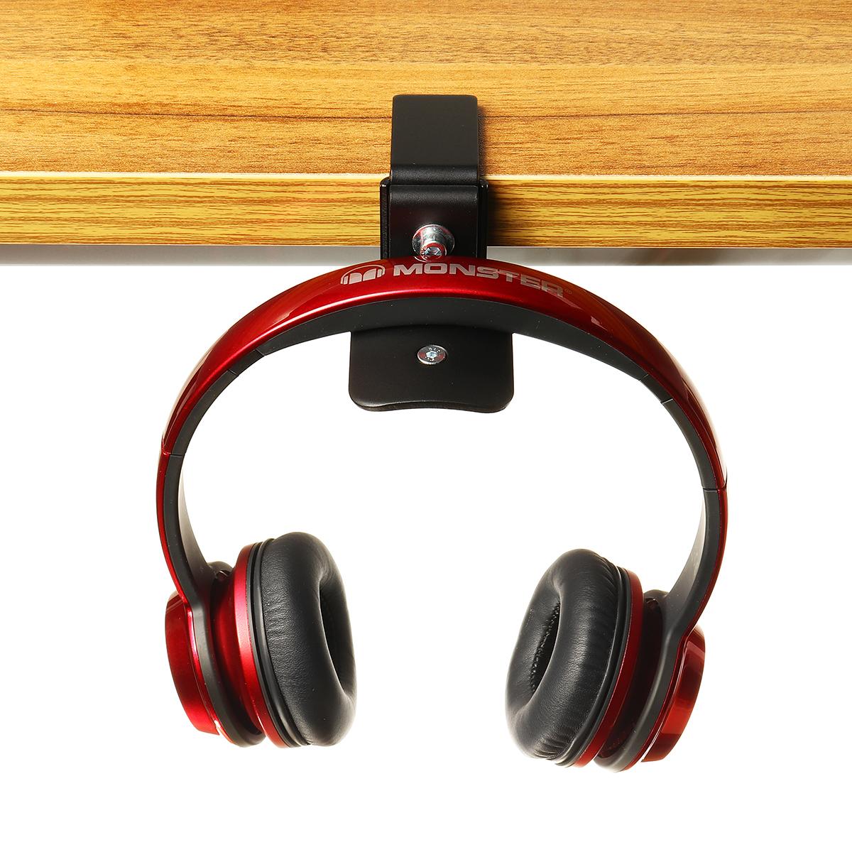 Universal Metal Headset Earphone Headphone Hanger Stand Holder Desktop Table Clamp Clip Hook